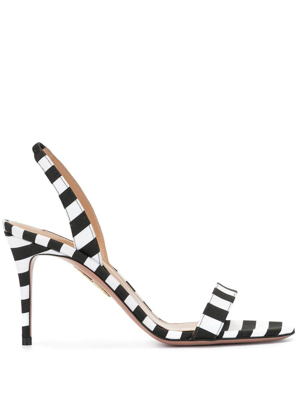 So Nude 85mm Striped Sling Back Sandal