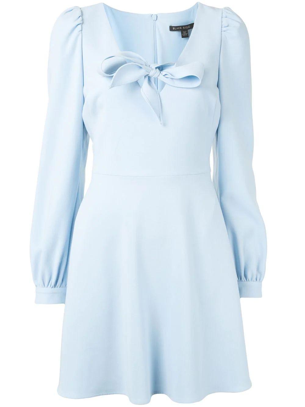 Ellen Tie Front Mini Dress Item # 3592314