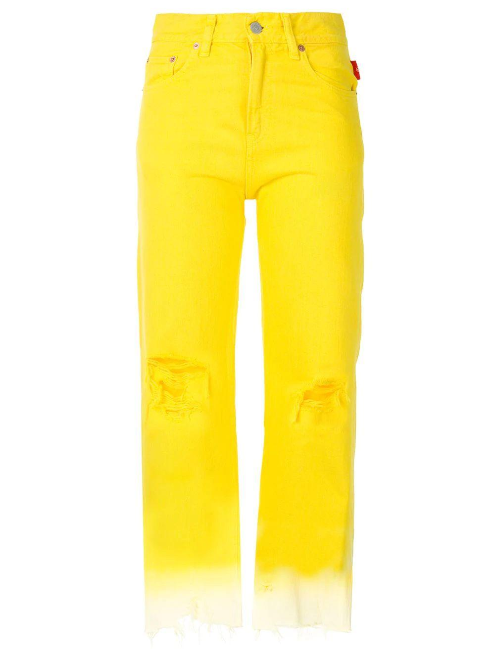 Pierce Dip Dye High Rise Cropped Jeans