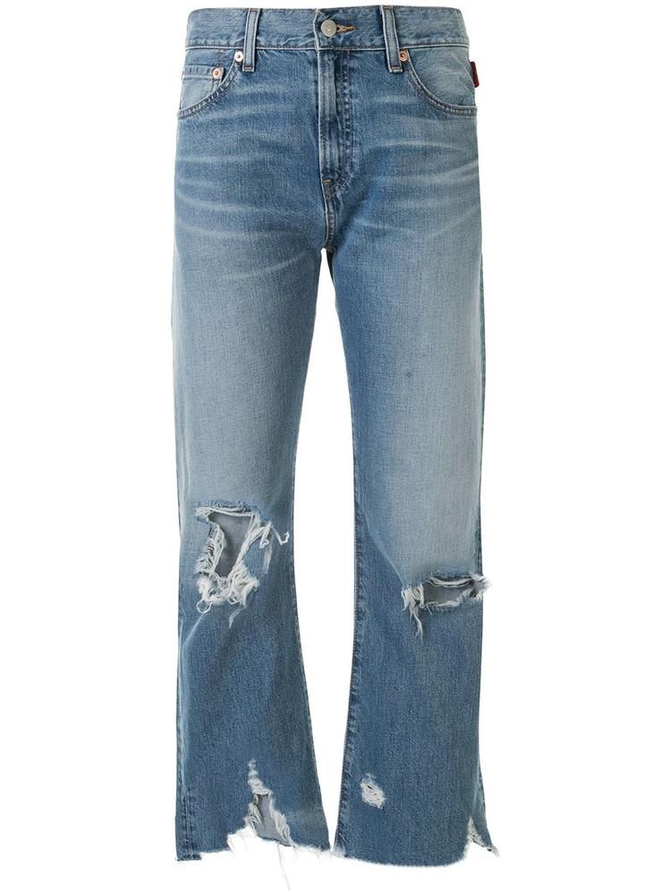Joni Distressed Mid Rise Cropped Jean
