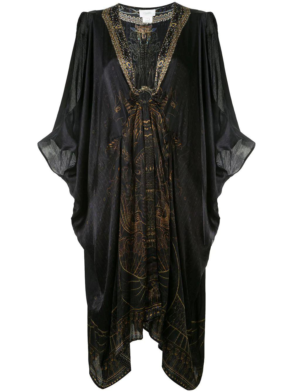 Short Kaftan With Asymmetrical Hem