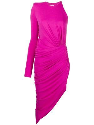 One Sleeve Jersey Dress