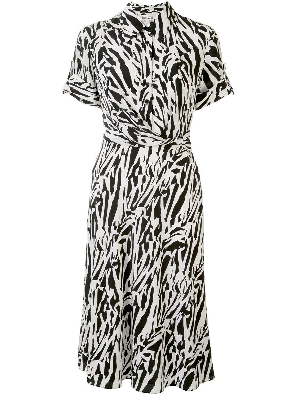 Deborah Faux Wrap Shirt Dress Item # 13944DVF