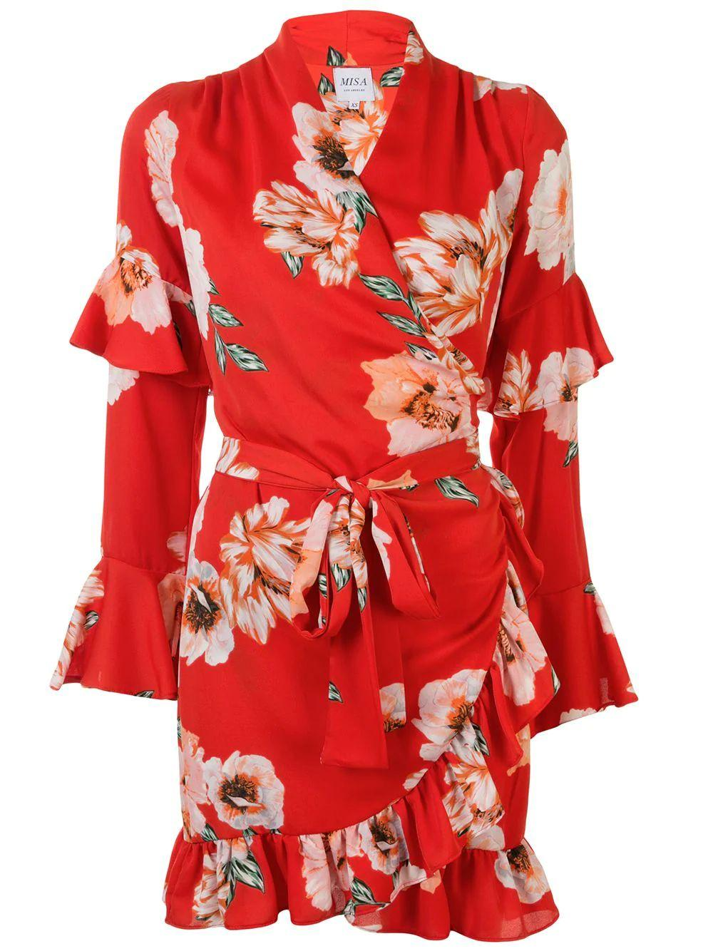 Skylar Floral Wrap Dress