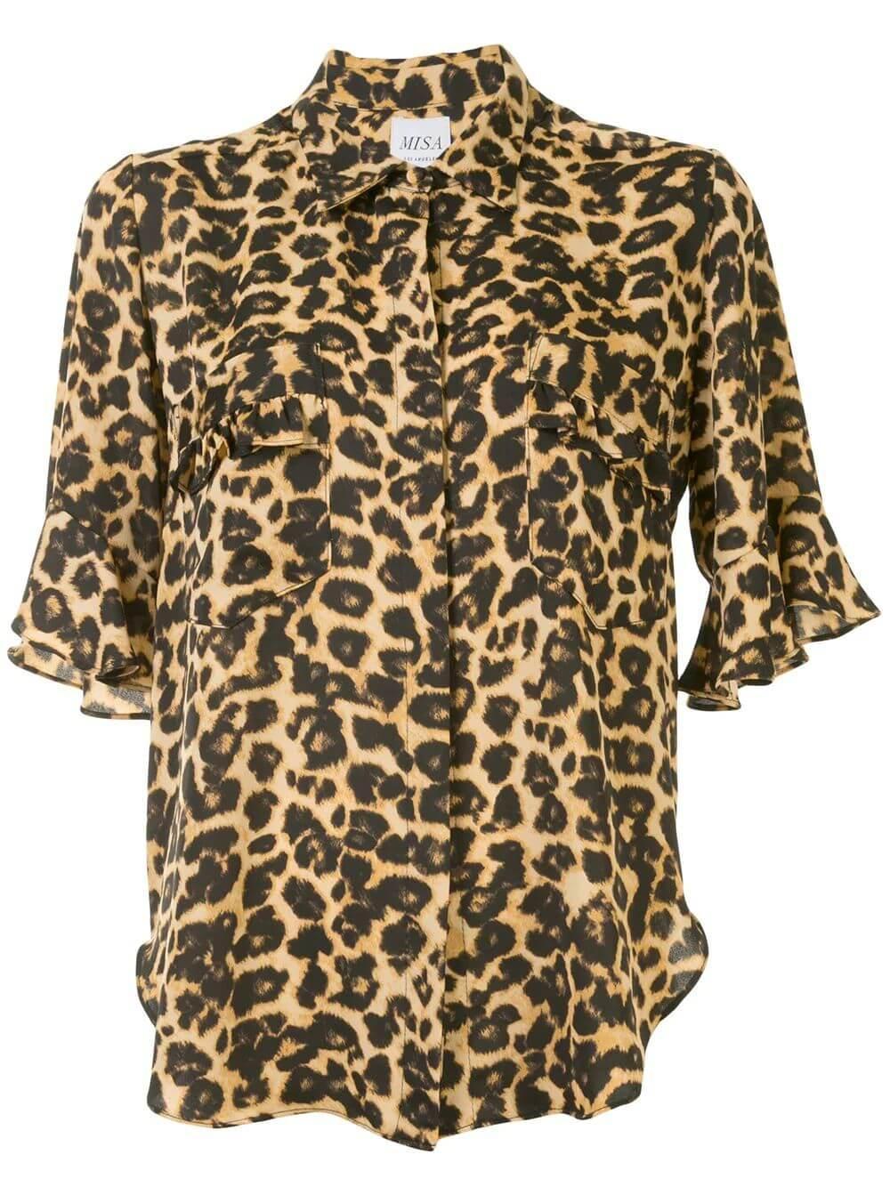 Louise Animal Print Blouse Item # KATP7110