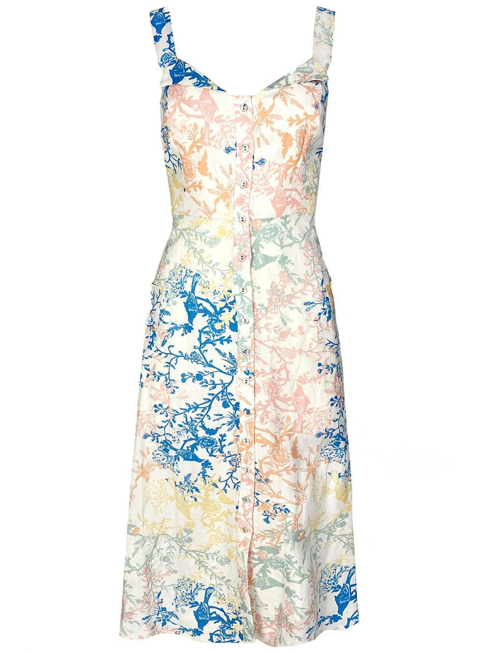 Anderson Flower Print Midi Dress Item # 20SPD11