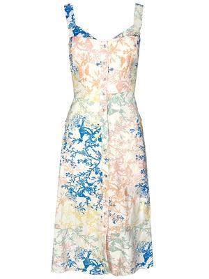 Anderson Flower Print Midi Dress