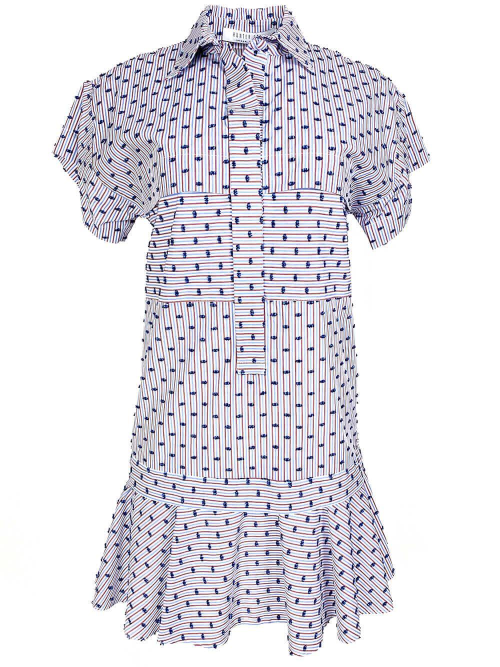 Addison Embroidered Stripe Dress Item # 20SPD25