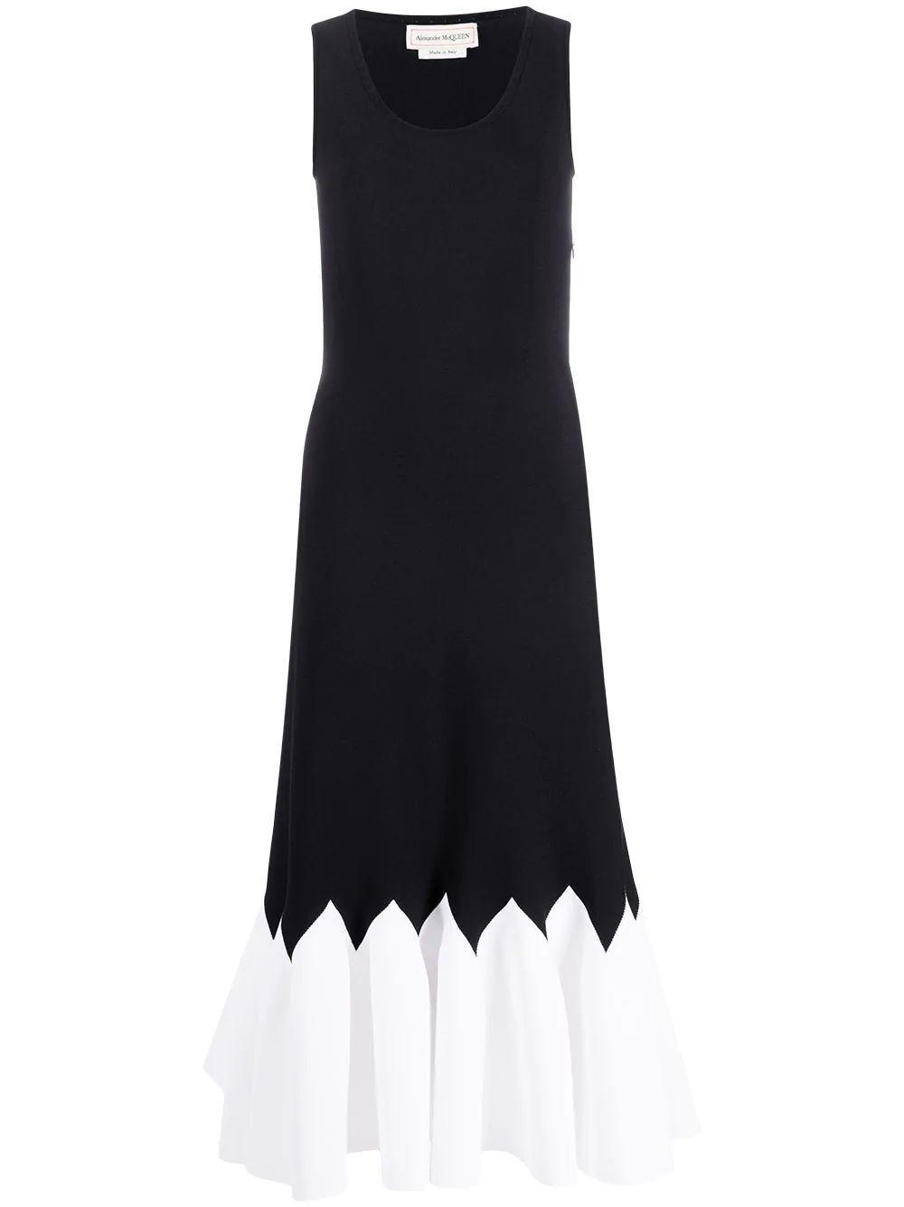 Pleated Hem Knit Dress Item # 610727Q1AMB