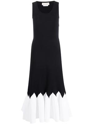 Pleated Hem Knit Dress