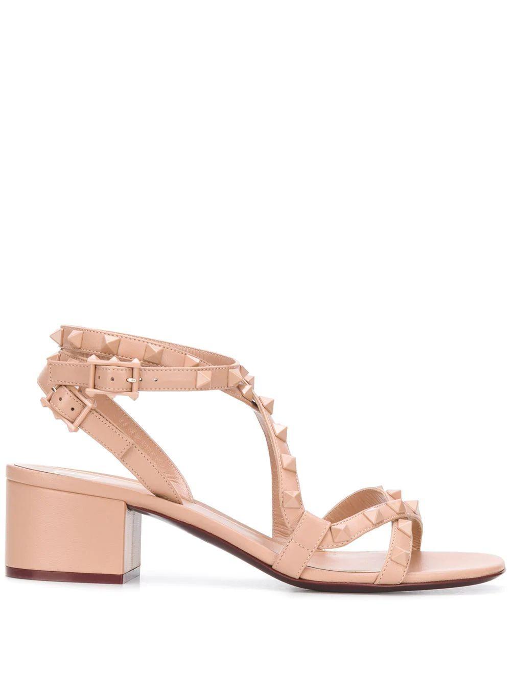 Rockstud 45mm Block Heel Sandal Item # TW0S0Y20MLRGF9