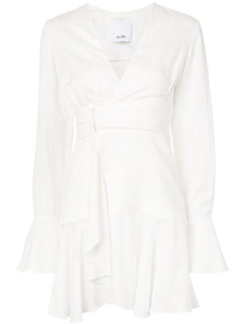Corsica Linen Wrap Dress