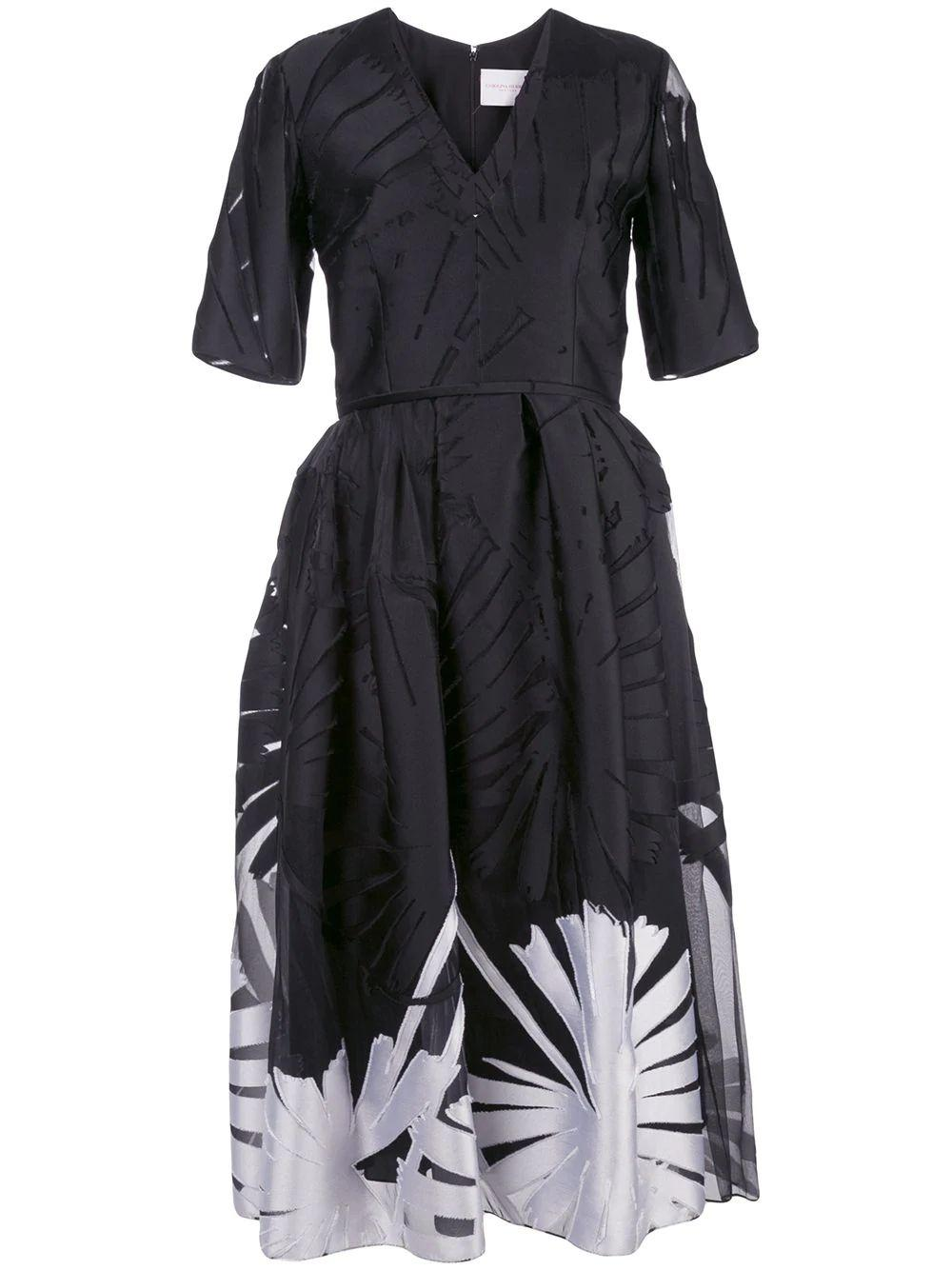 A-Line Palm Leaf Dress