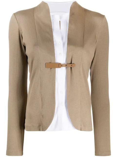 Fitted Cardigan With Buckle Item # GCD270W510-M523