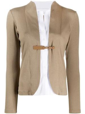 Fitted Cardigan With Buckle
