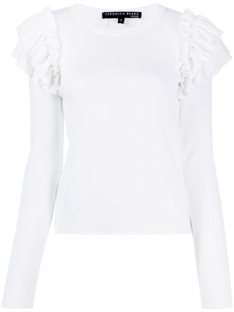 Segrist Top With Ruffle Shoulder Item # J2001JY0200544