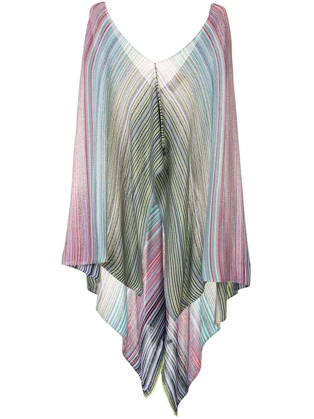 Striped Poncho Item # 9PT8VMD7429