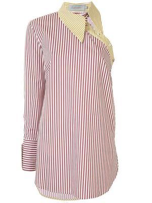 Tania One Shoulder Stripe Shirt