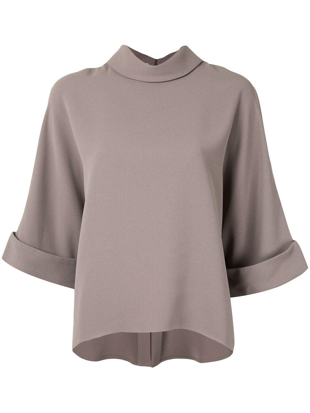 Bailee Mock Neck Blouse Item # 1001 01 150 0268
