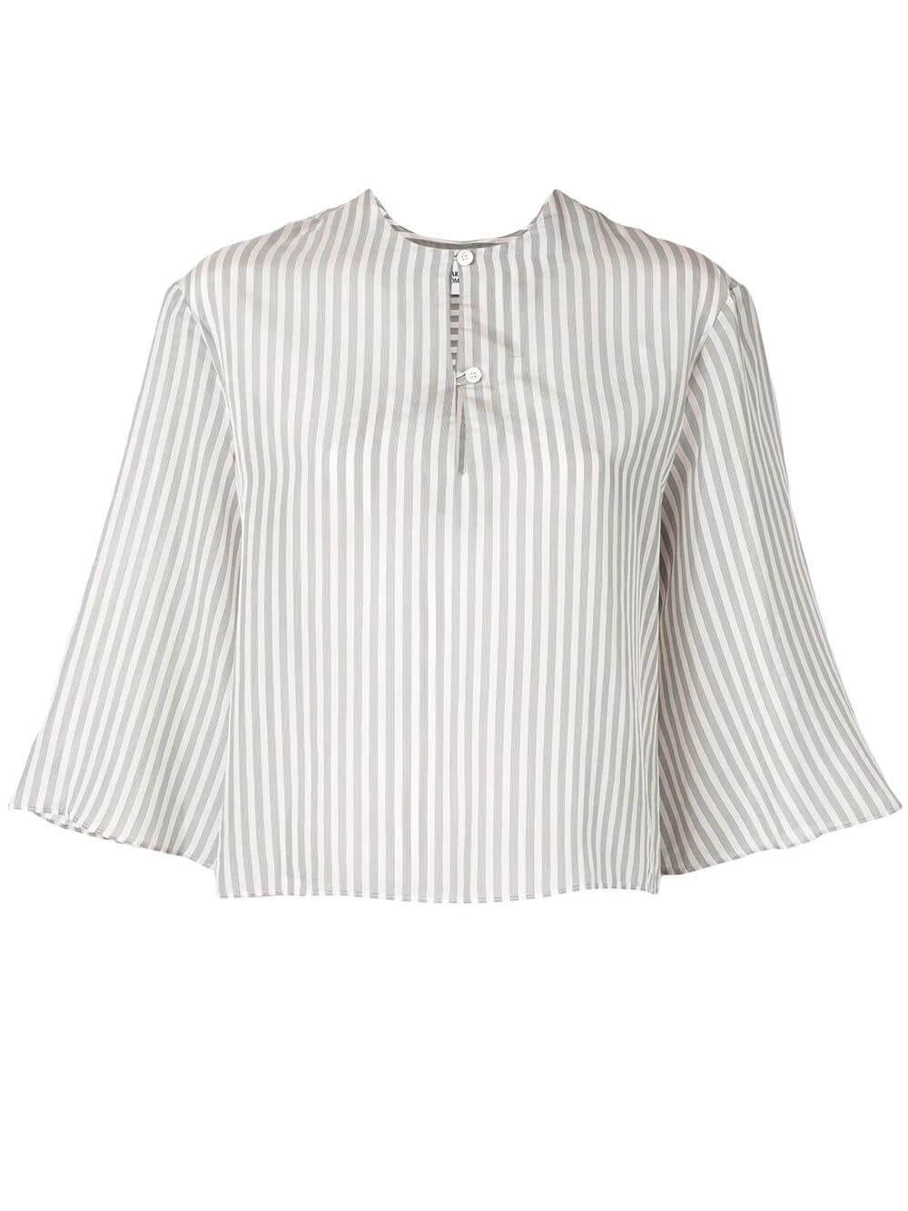 Bia Bell Sleeve Silky Stripe Blouse