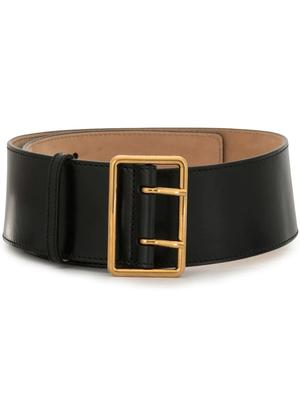 Double Buckle Wide Military Belt