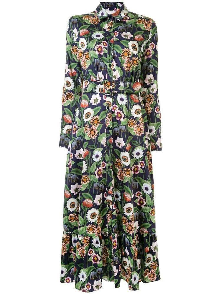 Augusta Floral Print Shirt Dress Item # AUGUSTA