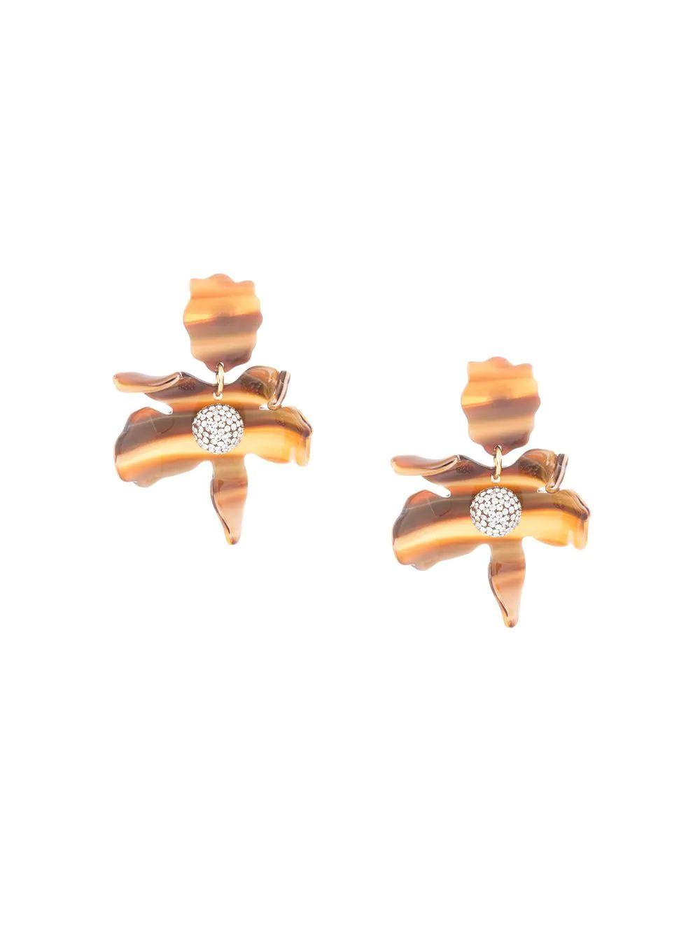 Small Crystal Lily Pierced Earring Item # LS0625TE
