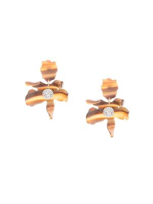 Small Crystal Lily Pierced Earring