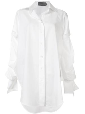 Sag Button Front Tunic