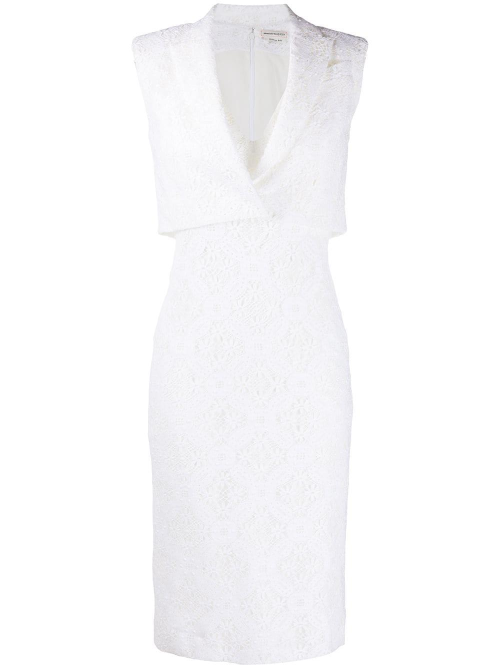 Layered Lace V- Neck Dress Item # 620429QEABP