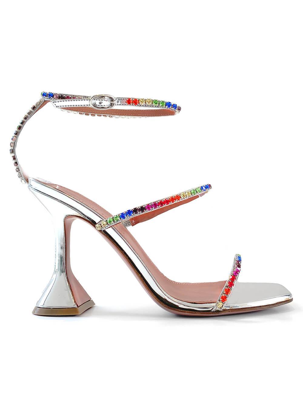 Gilda Sandal With Rainbow Crystals Item # GILDA-SANDAL