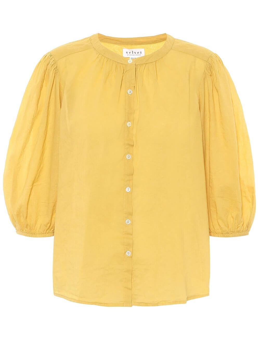 Emberly Half Sleeve Buttondown Item # EMBERLY04