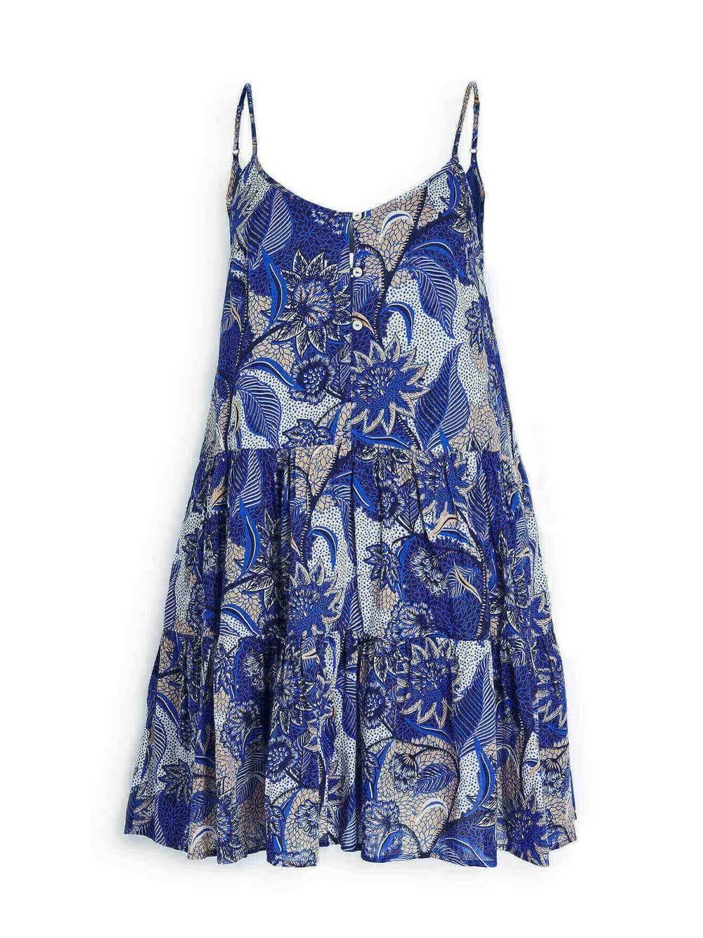 Zahara Short Tiered Printed Dress Item # ZAHARA04