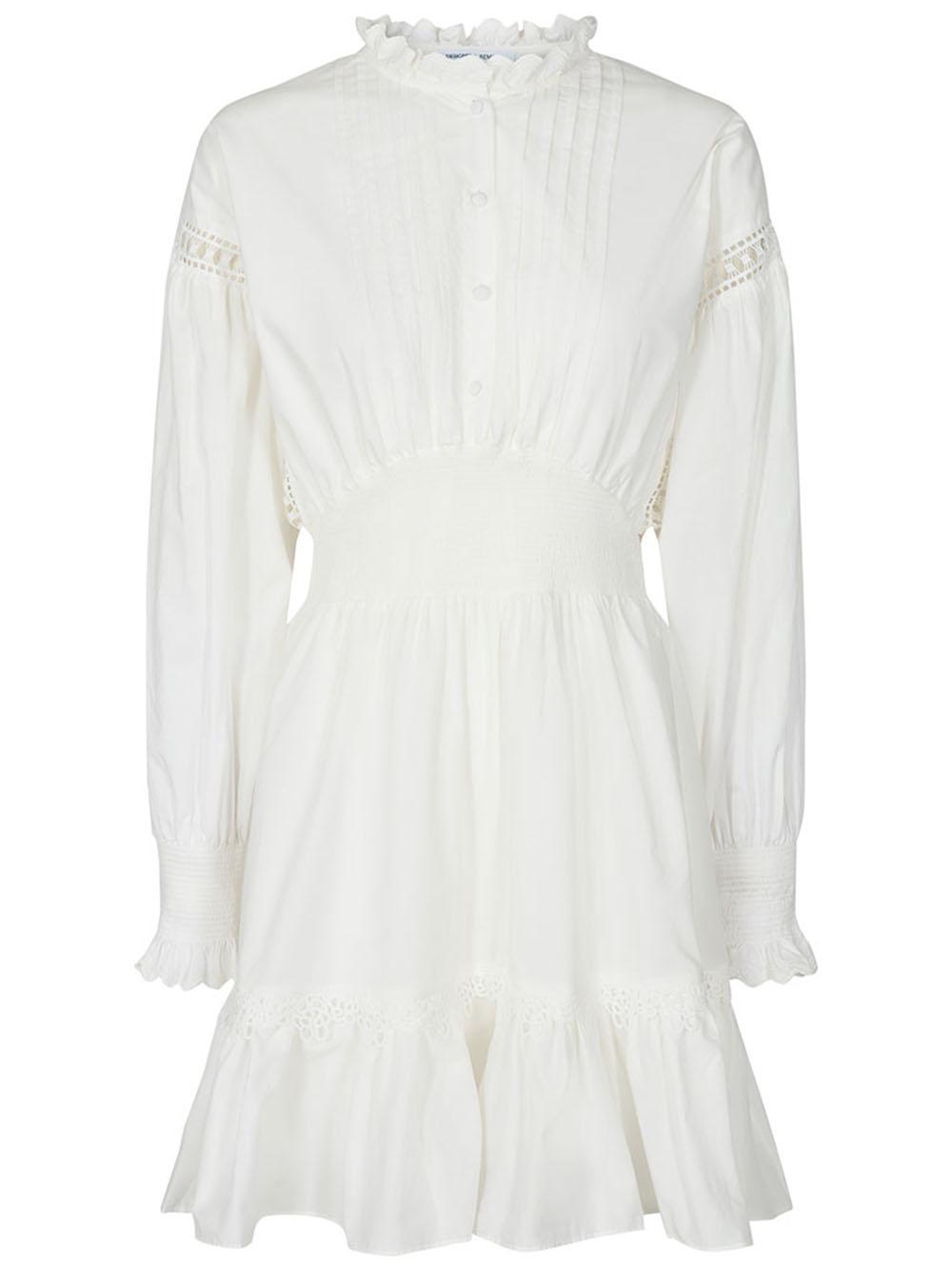 Sandra Ruffle Cotton Poplin Dress Item # 16034