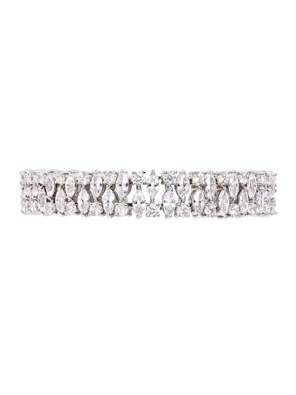 Double Pear Diamante Bracelet Item # BR11922