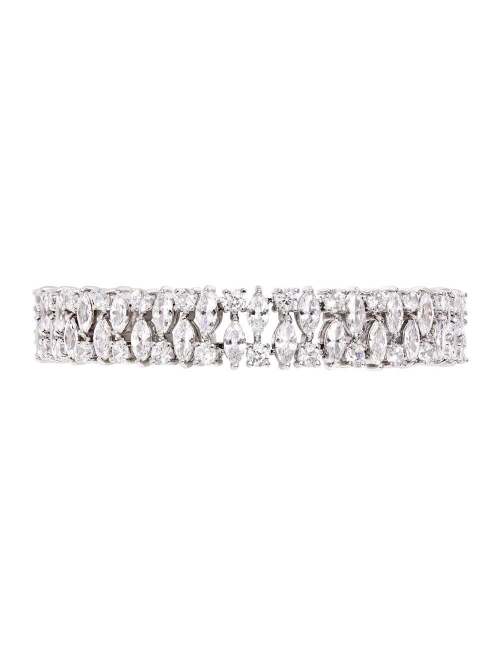Double Pear Diamante Bracelet