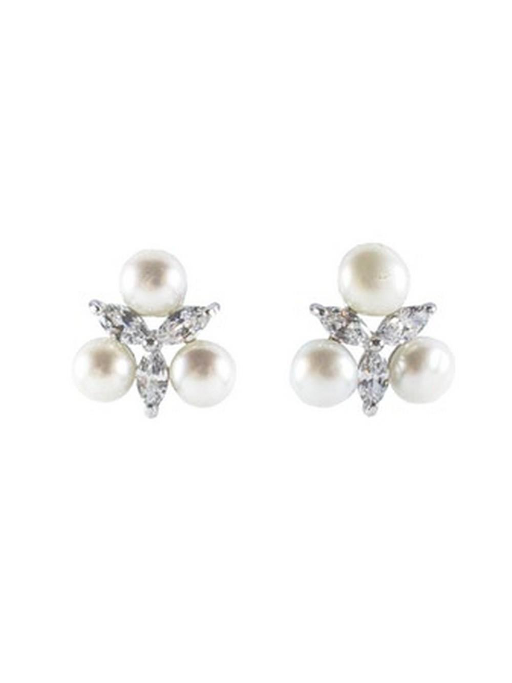 Monarch Starburst Pearl Earrings Item # FE11727-S20