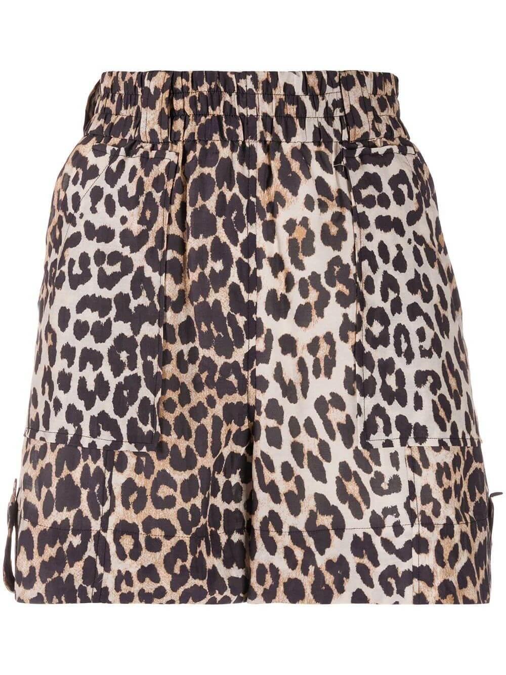 Leopard Cotton Silk Short Item # F4942
