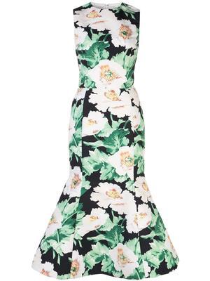 Floral Motif Cocktail Dress