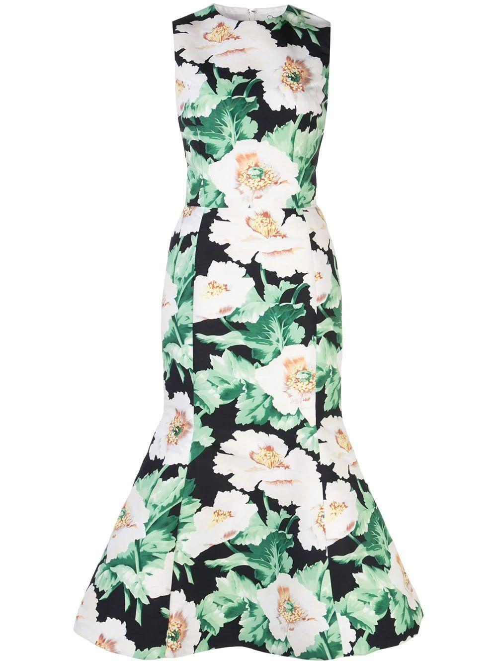 Floral Motif Cocktail Dress