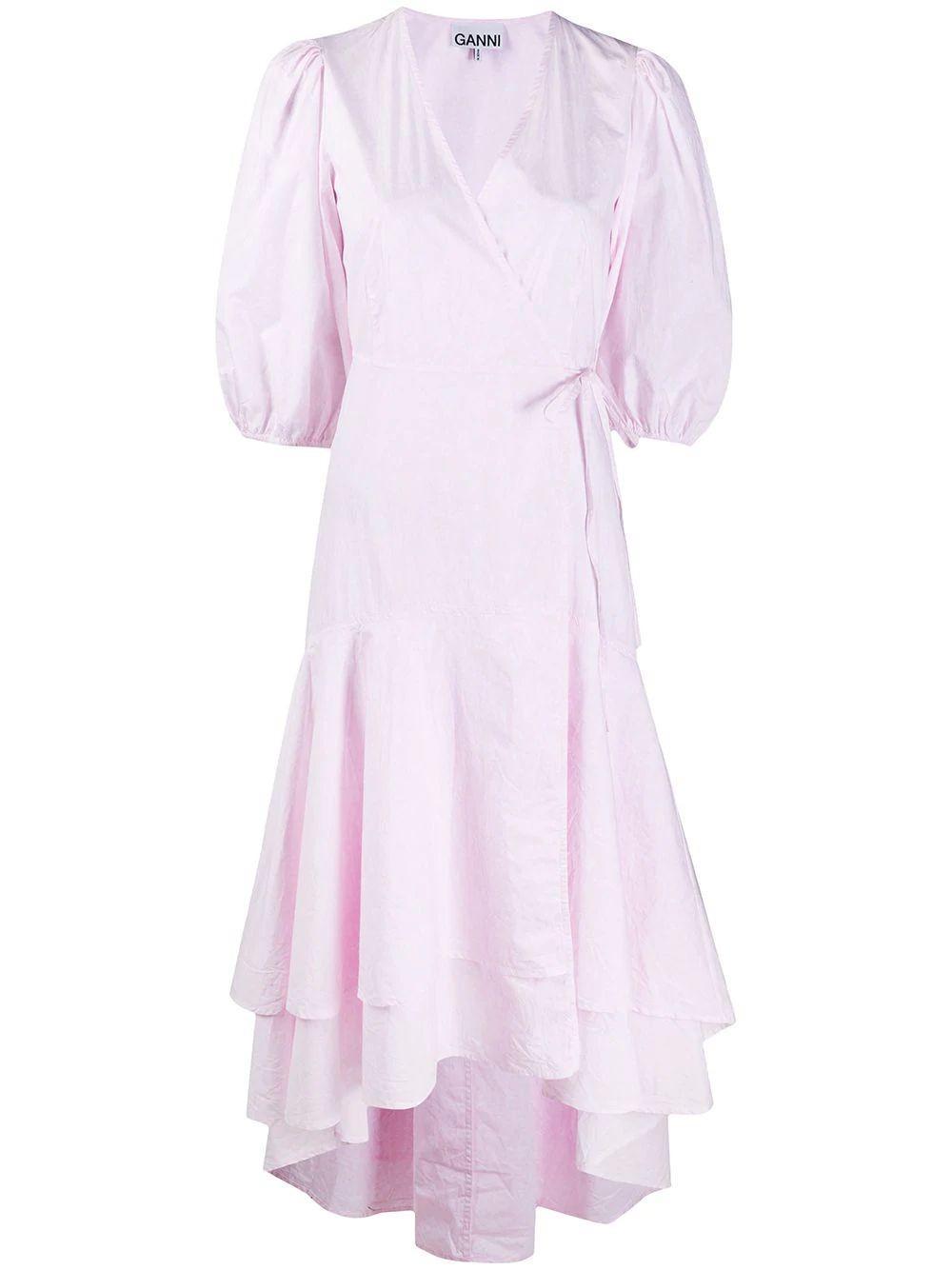 Cotton Poplin Balloon Sleeve Dress