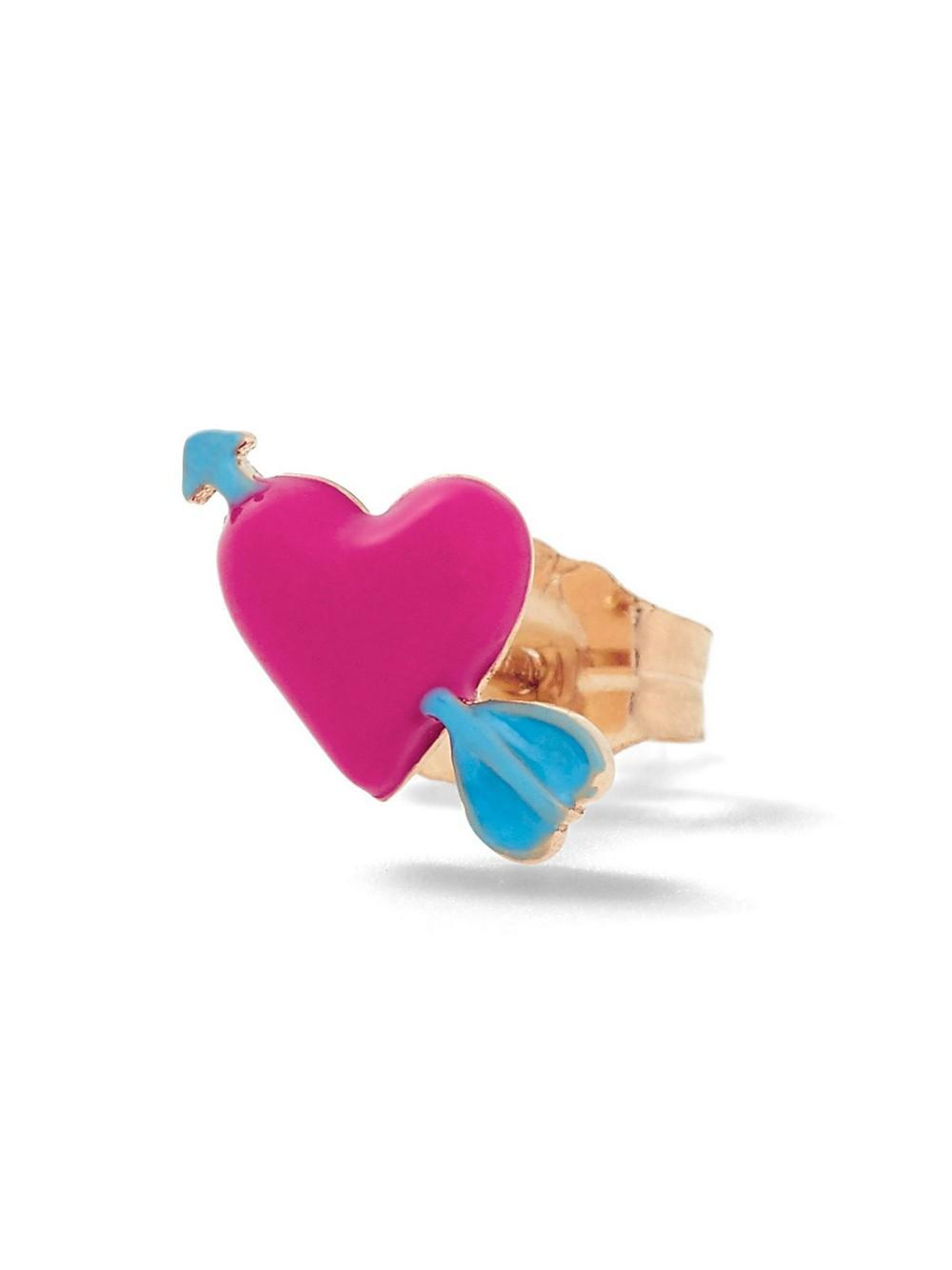 Heart With Arrow Stud Item # ALES63Y