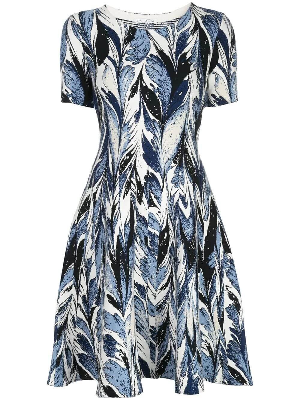 Printed Knit Dress Item # 20PN1122LMJ