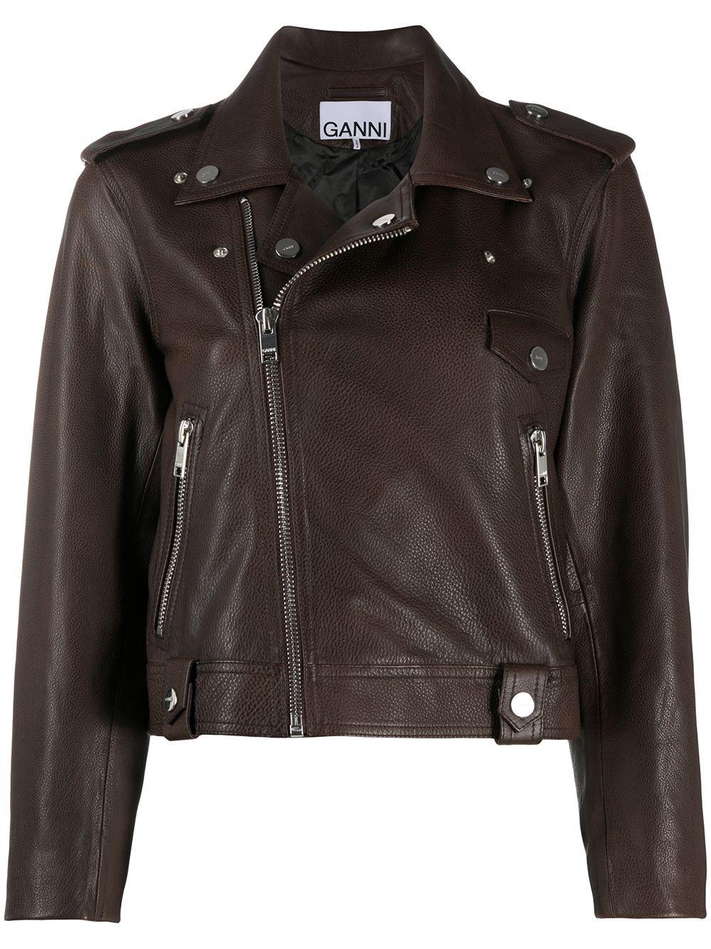 Light Grain Leather Moto Jacket Item # F4807