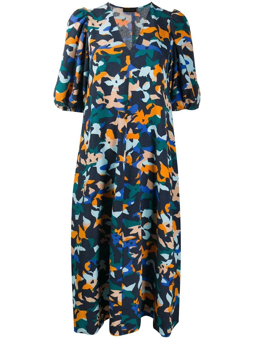 Mavelin Half Sleeve Midi Dress Item # SG3090