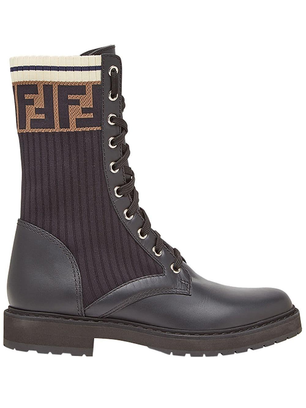 Combat Boot With Logo Band