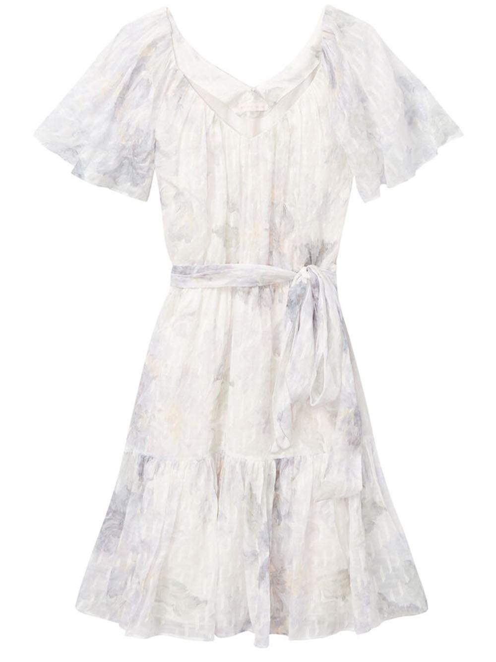 Shadow Lily Flutter Sleeve Dress Item # 220938D544
