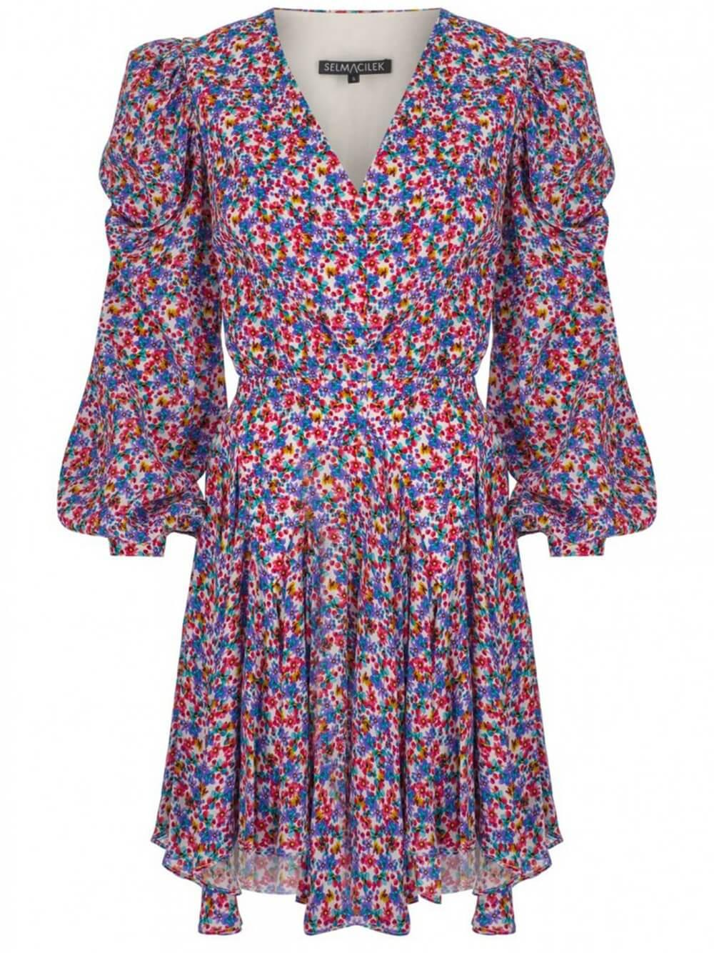 Long Sleeve Floral Dress Item # SS2032