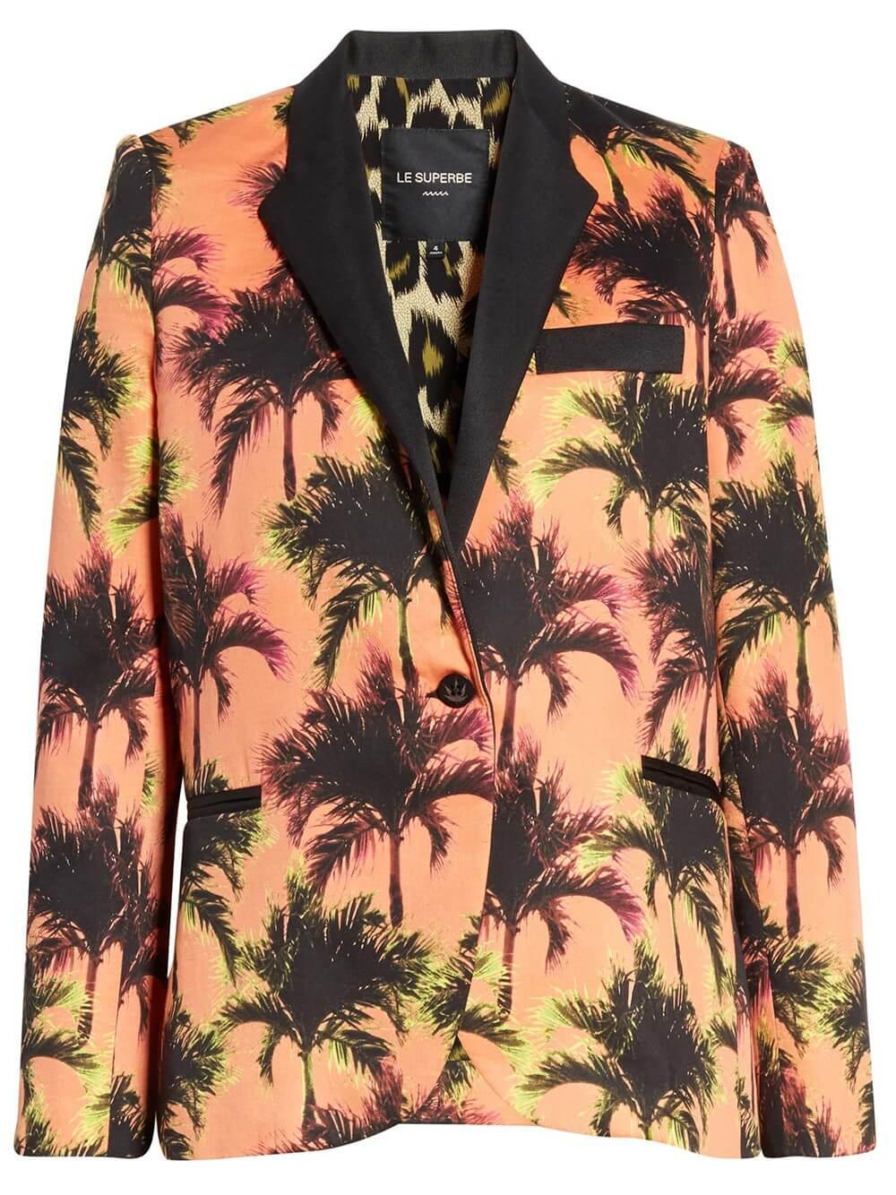 Coastal Palm Print Jacket Item # SP20-517EP