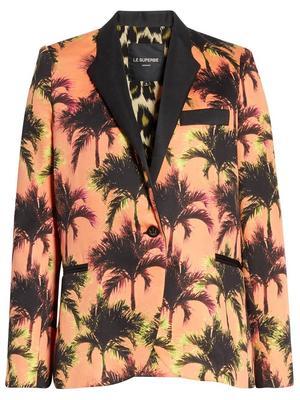 Coastal Palm Print Jacket